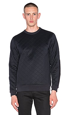G-Star x Mark Newson Quilted Defender Sweatshirt in Dark Marine