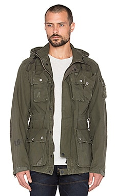 G-Star Ospak Hooded Jacket in Forest Night