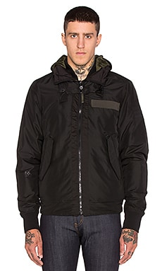 G-Star Submarine Hooded Bomber en Noir