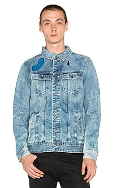 BLOUSON EN JEAN RAW FOR THE OCEANS COLLECTION OCCO SLIM TAILOR 3D