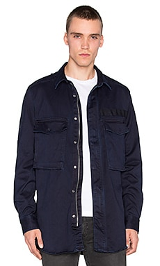G-Star Type C Straight Zip Shirt in Rinsed