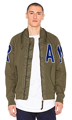 G-Star Submarine Bomber Jacket in Dark Bronze Green