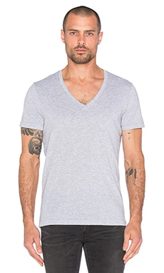 2 Pack V-Neck Tees in Heather Grey