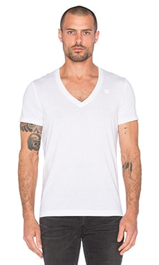 2 Pack V-Neck Tees in 화이트