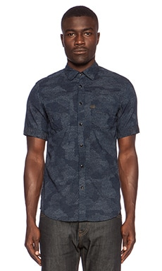 G-Star A Crotch Yoshem Work Shirt in Medium Aged