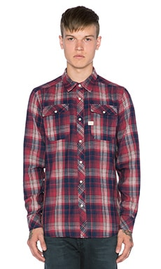 G-Star Landoh Indigo Vord Check Shirt in Rinsed