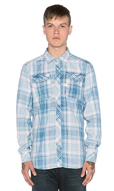 G-Star Landoh Indigo Heap Check Shirt in Rinsed