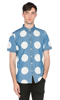 G-Star Landoh Clean Boll Denim Dot Shirt in Light Aged