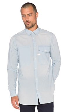 G-Star Landoh Long Light Torg Weight Chambray Shirt in Light Aged