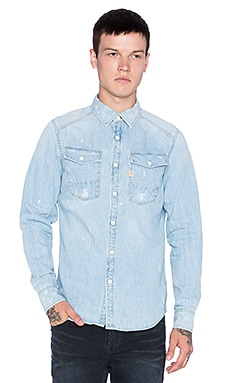 G-Star Coban Shatter Denim Shirt in Light Aged Restored 41