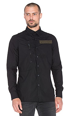 G-Star Powel 3D Stanley Poplin in Black