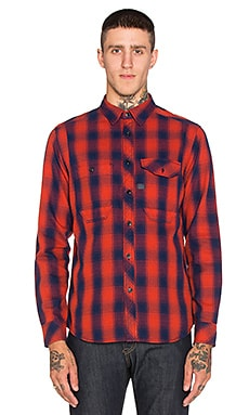 G-Star Wolker Victor Check Overshirt in Auburn