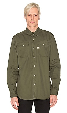 G-Star Landoh Diamond Denim Shirt in Rustic Green