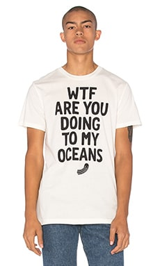G-Star Raw For The Oceans Collection Occotis Slogan Tee in Milk