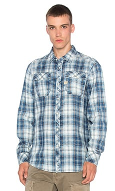 G-Star Landoh Shirt in Indigo & White Check