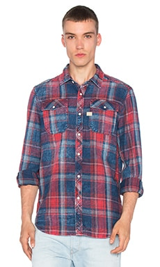 G-Star Landoh Shirt in Indigo & Antique Red