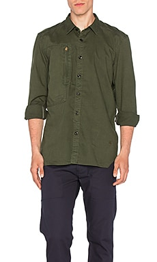 G-Star Powell 3D Shirt in Sage & Bright Rovic Green