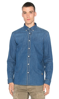 G-Star Core Shirt in Medium Indigo Aged