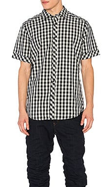 G-Star Landoh Clean Shirt in Soft Blue & Sartho Blue Check