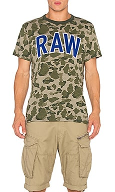 G-Star Warth Camo Tee in Sage AO
