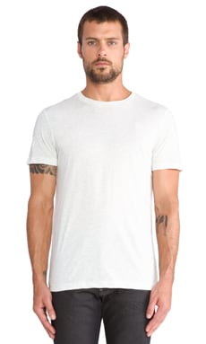 2 Pack Crew Neck Tees en Blanc Chiné