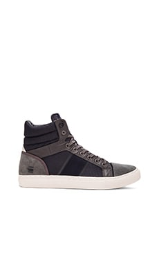 G-Star Augur Saraband Sneaker in Dark Grey Leather Navy