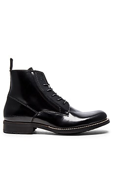 G-Star Manor Dryden Hi Shine in Black Tetured Leather