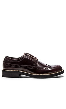 G-Star Trent Longwing in Wine Textured Leather