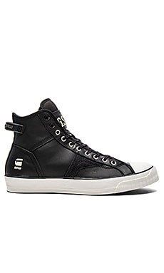 G-Star Campus Raw Scott Hi Leather en Cuir Noir