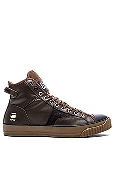 G-Star Campus Raw Scott Hi Leather en Cuir Marron Foncé