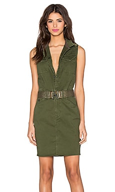 G-Star Rovic Sleeveless Dress in Caval Green