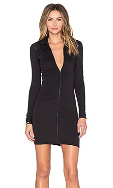 Slim Vest Dress in Black