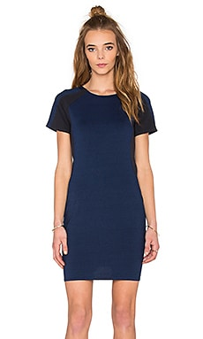 Raglan Short Sleeve Dress in Indigo