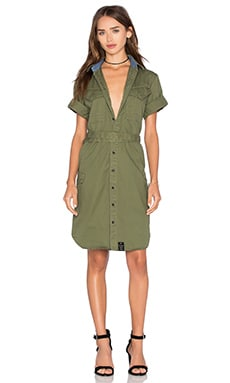 G-Star Rovic Shirt Dress in Sage