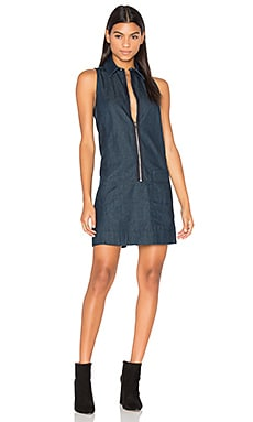 Blake Zip Front Dress en Rinsed