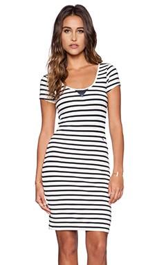 G-Star US Striped Slim Dress in Milk