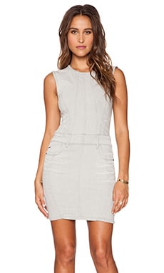 G-Star Lynn Zip Dress in White Painted