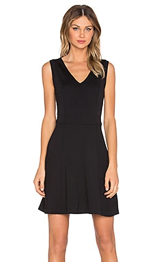 Jacin V Neck Dress in Black