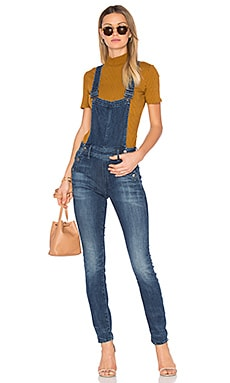 Lynn Slim Navy Overall in Medium Aged