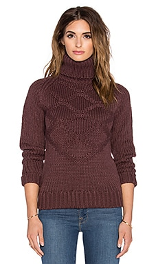 G-Star Aril Turtleneck Sweater in Dark Fig