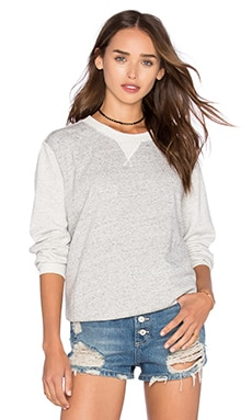 Sipal Boyfriend Sweater en Gris Chiné