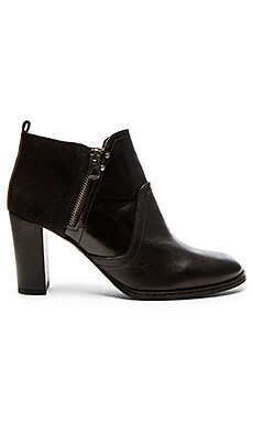 G-Star Bastille Zip Bootie in Black Leather & Suede