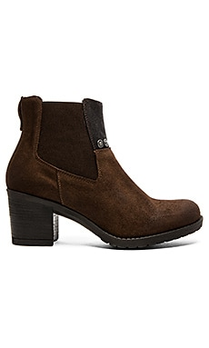 G-Star Debut Ankle Gore Bootie in Dark Brown Suede