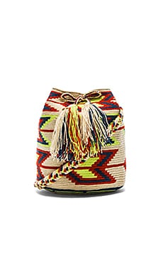 Guanabana Medium Bucket Crossbody in Multi