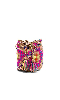 Medium Tribal Bucket in Pink & Blue