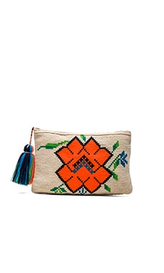 Amapola Clutch en Orange