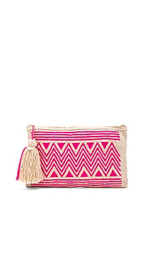 By Sea Clutch in Fucsia