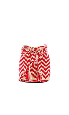 Medium Bucket Bag in Red