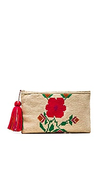 Floral Clutch in Natural