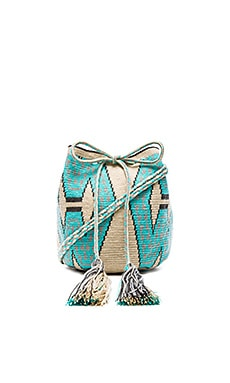 Guanabana Medium Bucket Crossbody in Teal